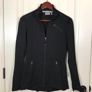 Black Athleta Zip Up Athletic Jacket.